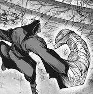 Takizawa creates an armored limb