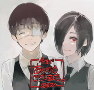 Ken Kaneki and Touka Kirishima's Illustration by Ishida Sui (5 july 2018)
