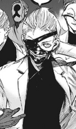 Kaneki with old mask and new hairstyle