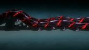 Kaneki's kakuja – twin centipede tails in anime