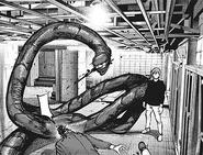Hajime's rinkaku kagune – flesh-eating tentacles