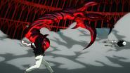Yamori throws Kaneki in the wall (anime)
