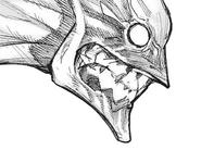 Koutarou Amon's second kakuja mask — Side View