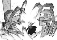 Kaneki's kagune manipulation – tentacles trap