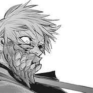 Kaneki's kakuja mask during the battle against Juuzou and Hanbee