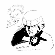 Ishida's illustration for Starship Troopers
