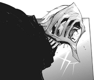Takizawa's half-kakuja mask (side view)