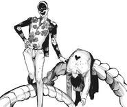 Nico's kagune — spine-like tail