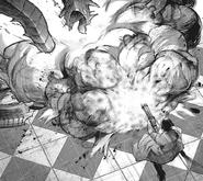 Marude exploding Kichimura's kagune