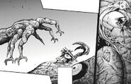 Kaneki's rinkaku kagune — forked tail