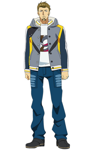 Banjou anime design front view.png