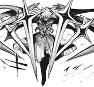 Kaneki's post-dragon kakuja form — cross-like blades