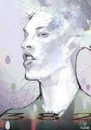 Ishida's illustration of Miyavi
