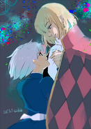 Ishida's illustration of Howl