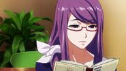 Rize reading a novel