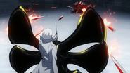 Arima blocking Owl's projectiles with IXA