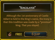 TITLE kingslayer
