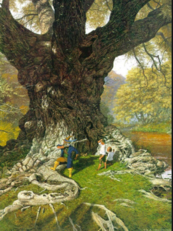 Tom salva Merry e Pipino by Ted Nasmith.png