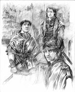 Elendil and his Sons by Abe Papakhian