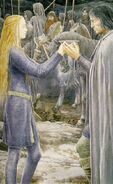 Aragorn and Éowyn by Alan Lee