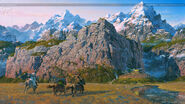 Approaching Edoras by Ted Nasmith