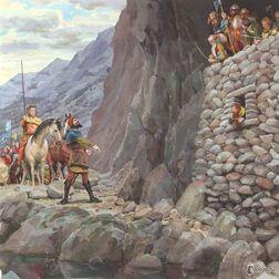 Thorin, Bard e Thranduil by Denis Gordeev.jpg