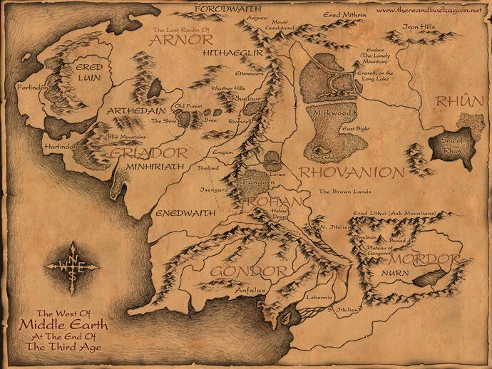 Mappa dei luoghi più rilevanti.