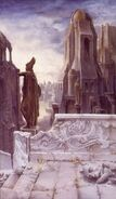 Rovine di Osgiliath by Alan Lee
