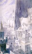 Minas Tirith illustrata da Alan Lee