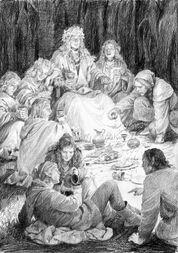 Thranduil e altri Elfi in festa by Denis Gordeev.jpg