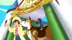 Tom and Jerry's Giant Adventure - Jack, Hermione, Tom and Jerry leaving Storybook Town.png