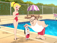 A Life Less Guarded - Miss Shapely and Lifeguard thanking Droopy