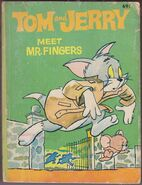 Big Little Book - Tom and Jerry Meet Mr Fingers - 1980 Green Cover