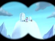 Polar Peril - Binocular view of Butch looking at his binoculars