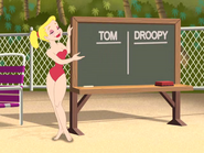 A Life Less Guarded - Miss Shapely with a chalkboard
