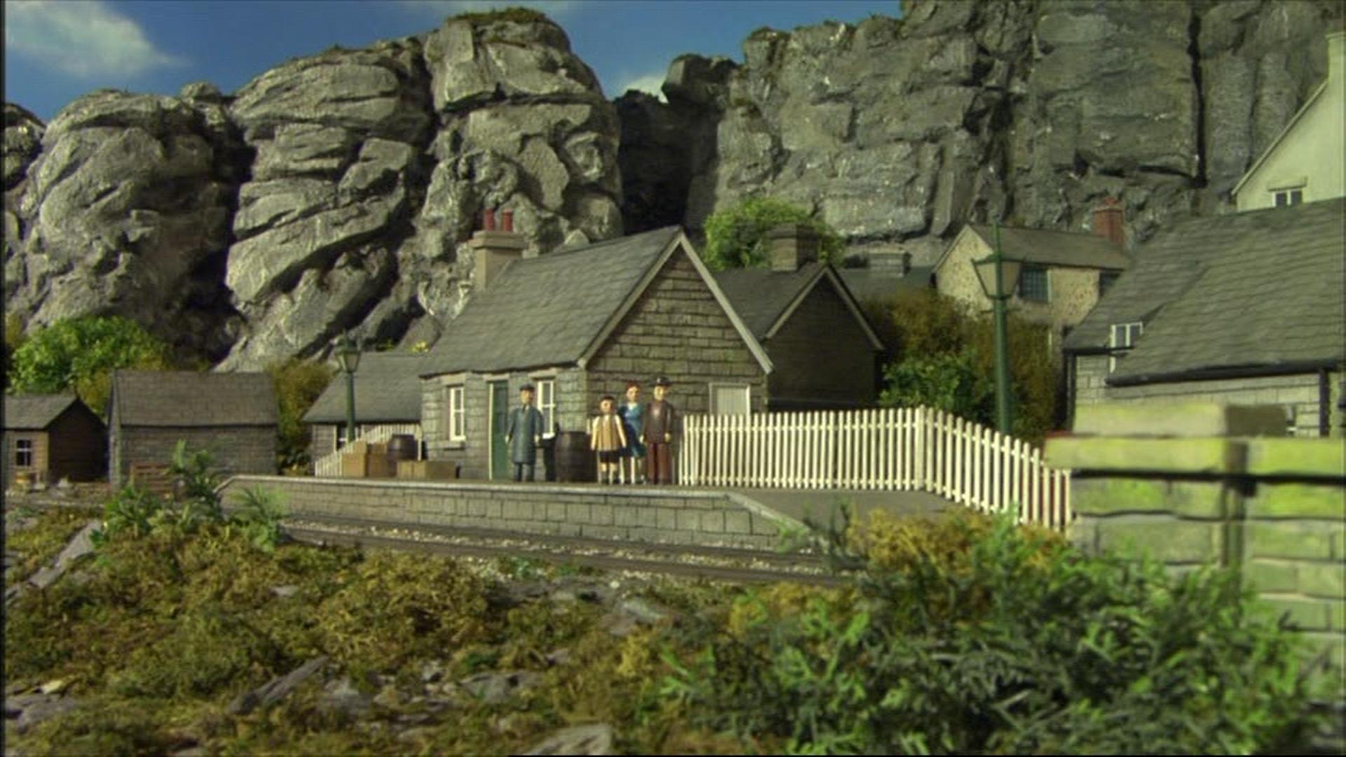 Станция горной деревни
