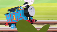 Thomas Running Down The Line & Tooting His Whistle