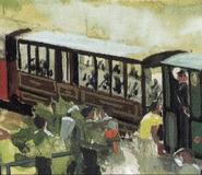 Грузовые вагоны железной дороги Скарлоуи