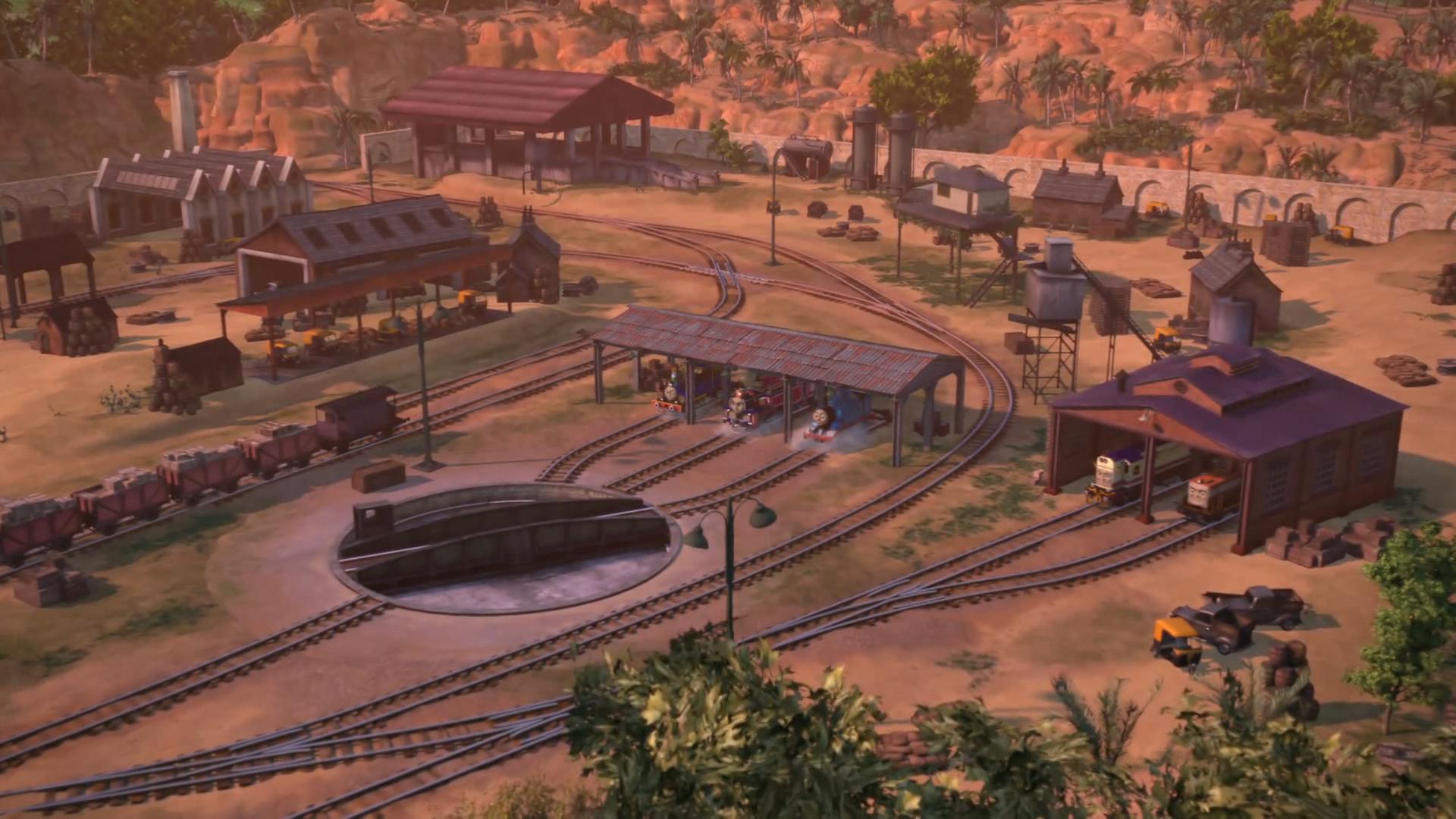Индийское локомотивное депо