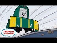 Shane Surfs In the Slippery Snow - Great Race Friends Near and Far - Thomas & Friends