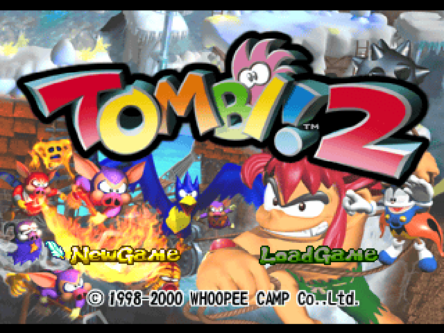 Tombi! 2 Title Screen.png