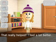 Mii thanks the player