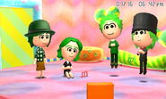 A group of Miis dancing