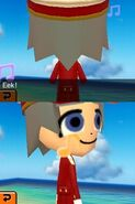 Tickling a miis back and they turn to look at you