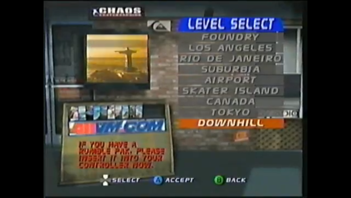 THPS3 (N64) - Downhill - Level select.png
