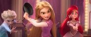 Elsa Rapunzel Ariel encounter Vanellope