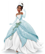 Tiana Blue and White Dress