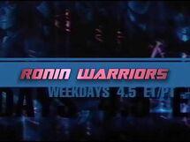 Toonami - Ronin Warriors Short Promo (Weekdays 4