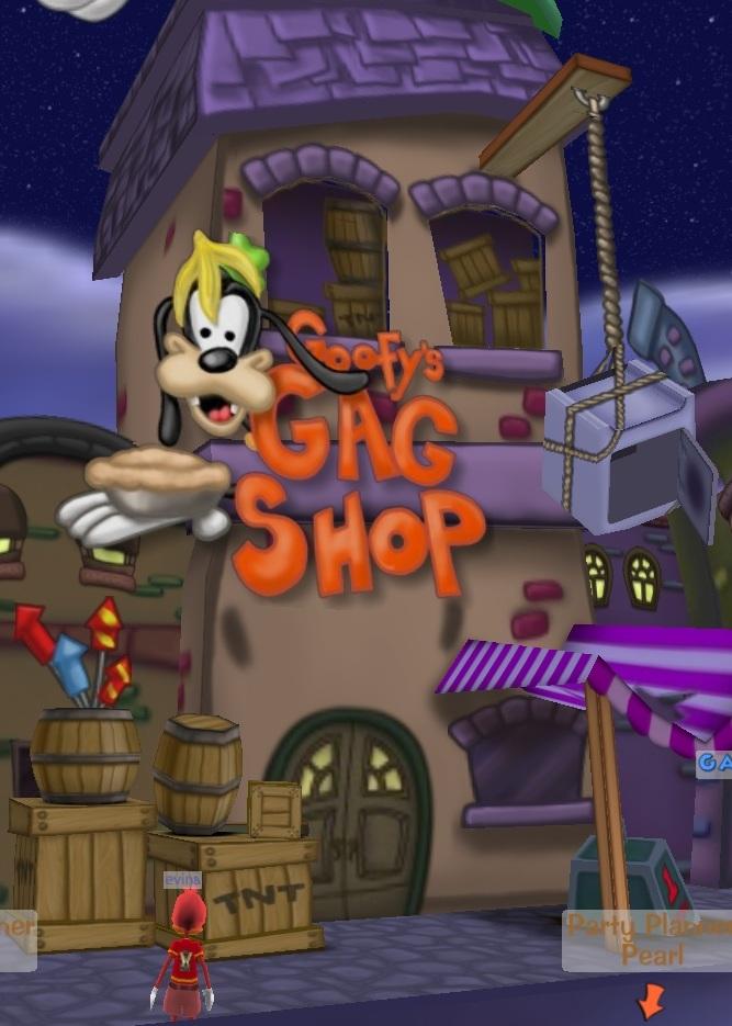 Donald's Dreamland gag shop