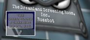 Cropped cog The Dreamland Screening Room (Now Playing Cat Nap Pluto) sign